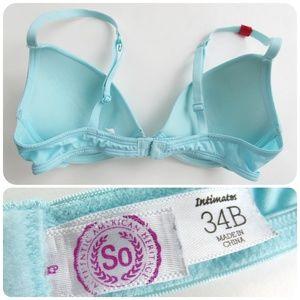 c06e66758e608 SO Intimates   Sleepwear - New Juniors Bra Aqua 2-way Underwire Boost 34B